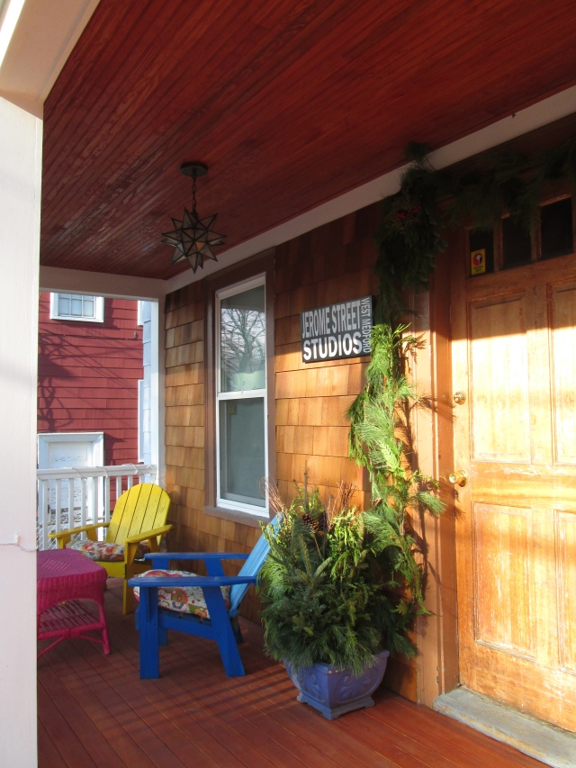 Front porch, 99% complete