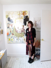 Hilary Tait Norod in her studio